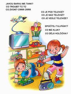 Pro Štípu: Obrazkove hadanky Stipa, Album, Logos, Children, School, Education, Montessori, Puzzles, Psychology