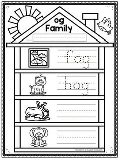 Cvc Word Families, Cvc Words, Worksheets, Home And Family, Teaching, Literacy Centers, Education, Countertops, Onderwijs