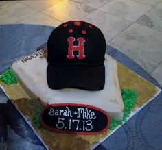 Groom's Cake celebrating Haverford College from May 17, 2013.  Congrats to Sarah & Mike!