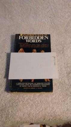 Playboy's book of Forbidden Words c 1972