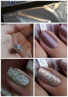 DIY Nail Art | Aluminiumfolie ~ Beautyill | Beautyblog met nail art, nagellak, make-up reviews en meer!