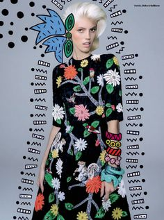 Devon Windsor - Vogue Brazil - September 2014 - Editorial | TheImpression.com