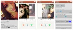 The way tinder works, this os a look at how tinder works, the way you swipe and what is said.
