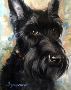 Scottie Dog Art