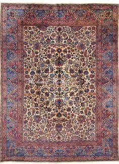 """Antique Mashad Oriental Rug Size: 8' 5"""" x 11' 4"""""""