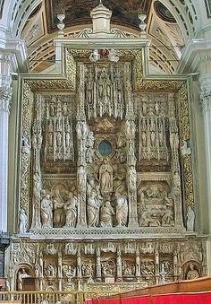 Zaragoza, Spain. Retablo mayor de Forment en la Basíica del Pilar
