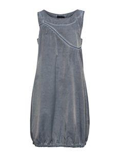 Baumwollmix-Kleid mit Waschungseffekt von Kekoo in Rauch-Blau.Online informieren bei navabi