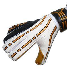 Ichnos Arcos Black Gold Adult Football Goalkeeper Gloves with finger p – ICHNOS SPORTS