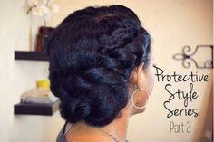 low bun updo hairstyle for black women