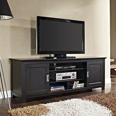 "Walker Edison Solid Wood 70"" TV Stand with Sliding Doors Walker Edison http://www.amazon.com/dp/B00GLWJPJI/ref=cm_sw_r_pi_dp_y5ncvb0M54K2M"
