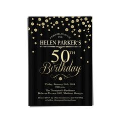 25 PERSONALISED BIRTHDAY INVITATIONS 30TH 40TH 50TH 60TH 65TH 70TH SHAMROCK