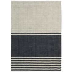 Features:  -Construction: Hand made.  -Material: 100% Wool pile.  -Origin: India.  Technique: -Hand woven.  Primary Color: -Charcoal/Ivory.  Material: -Wool.  Product Type: -Area Rug.  Material Detail