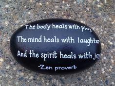 Zen quote hand painted SNS DESIGNS