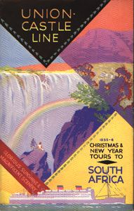 Union-Castle Mail Steamship Company, 1935-1936 Christmas & New Year Tours to South Africa. (Wolfsonian-FIU)