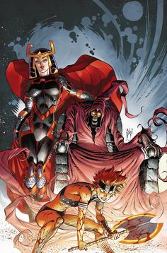 World's End - Big Barda, War, and Desaad by Guillem March, colours by Tomeu Morey *