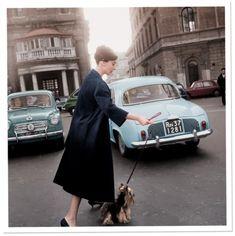 Audrey Hepburn in Rome, Italy, 1950s.