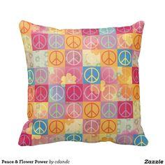 Peace & Flower Power Pillow