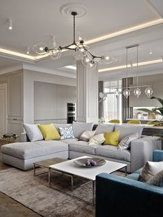 Onegin park is part of House interior decor - PS Room Design, House Interior, Contemporary Living Room Furniture, Yellow Living Room, Open Living Room, Interior Design Living Room, Home Interior Design, Living Room Design Modern, Living Room Designs
