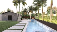 Yardzen is the online landscape design platform that assigns a talented landscape designer to create a just-for-you design, factoring your style and your property's unique characteristics. Modern yard, ADU, backhouse, pool house, pool, spa, tropical landscaping, palm trees, modern pool, backyard design, Miami Yard, Miami landscape design, Florida home, modern yard, black exterior, CB2, outdoor dining, outdoor fie pit, pavers, outdoor lighting, exterioir design, curb appeal, low-maintenance…