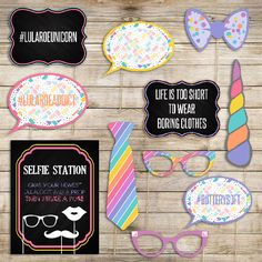 Chalkboard  LuLaRoe Photo Booth Props 11 Pieces by darlingandigital on Etsy https://www.etsy.com/listing/452031174/chalkboard-lularoe-photo-booth-props-11