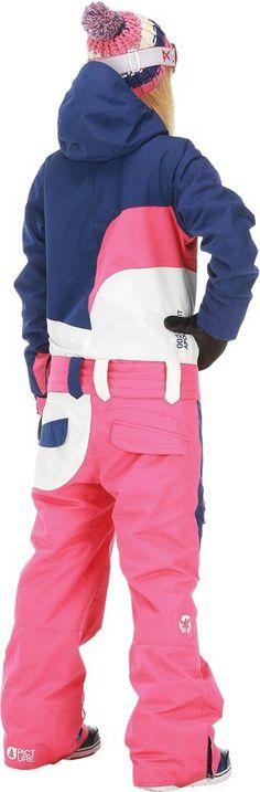 Cynda in a pink, KSU State purple,  & white belted onesie.  (Back View)