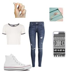 """""""kc undercover"""" by halleigerken ❤ liked on Polyvore featuring Topshop, H&M, Converse and CellPowerCases"""