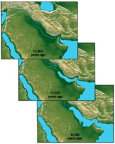 The Post-glacial Flooding of the Persian Gulf Geography Map, World Geography, Ancient Aliens, Ancient History, Keystone Species, Prehistoric World, Unique Maps, Plate Tectonics, Alternate History