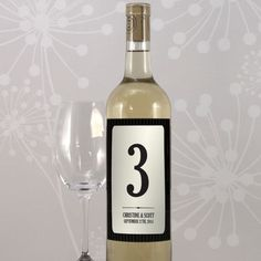 This Pinstriped two tone table number sticker is an elegant alternative to traditional table numbers. It's black and white tones coordinate with most decors. Use them on wine you are serving, incorporate a wine bottle into your centre pieces or simply adhere it where you think it looks best.