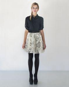 winter hand-painted wool skirt von MissB by Barbara Pinda auf DaWanda.com