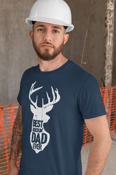 Men's Funny Dad T Shirt Father's Day Gift Best Buckin' Dad Ever Shirt Vintage Shirt Silhouette Buck Deer Father Hunter Shirt Dad Humor, Vintage Shirts, Fathers Day Gifts, Funny Shirts, Buck Deer, Dads, Custom Printed Shirts, Garment Bags, Sister Shirts
