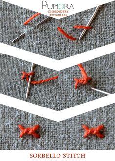 Pumora's lexicon of embroidery stitches: the sorbello stitch