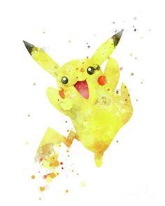 #pokemon #pikachu #artwork #watercolor