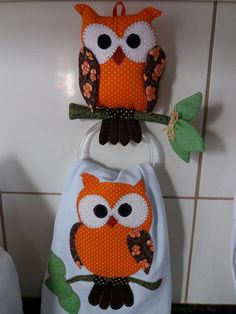 Owl Sewing, Owl Kitchen, Bird Quilt, Sewing Aprons, Quilt Stitching, Patch Quilt, Dish Towels, Applique, Patches