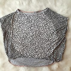 Zara top Printed short sleeve top. Great to dress up or down. Excellent condition! Fast shipping!  Zara Tops