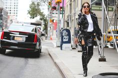 The Most Authentically Inspiring Street Style From New York #refinery29  http://www.refinery29.com/2015/09/93788/ny-fashion-week-spring-2016-street-style-pictures#slide-16  Now, those are some boots....