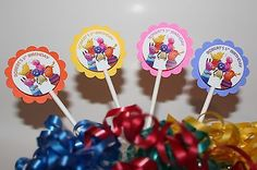Personalized Backyardigans Party Cupcake Toppers