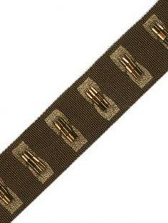 "Samuel & Sons Trim - 1.2"" Ajoure Beaded Border - Smoked Copper - Our Price:  $49.50 Per Yard home #decor #decorating #interior #interiordesign #design #designing #DIY #accessories #ideas #inspiration #dots #wallpaper #fabric #trim #brown #gold"