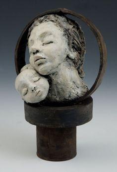 "Elissa Farrow-Savos ""Motherhood"" polymer clay, oils, found objects"