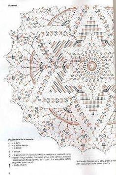 Häkelschrift zu schönem runden Deckchen Sabrina robotki 8 2009 - sevar mirova - Álbumes web de Picasa Knitting ProjectsCrochet For BeginnersCrochet PatternsCrochet Baby Motif Mandala Crochet, Crochet Doily Diagram, Crochet Circles, Crochet Doily Patterns, Crochet Chart, Thread Crochet, Filet Crochet, Crochet Stitches, Rug Patterns