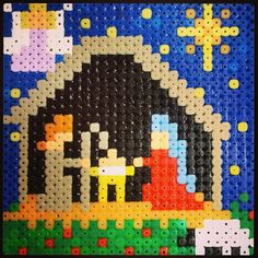 Perler bead Christmas Nativity by fison75