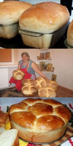 Мягкий, нежный хлеб, как у любимой бабушки - Brot/Brötchen. Bread Recipes, Cake Recipes, Cooking Recipes, Healthy Recipes, Bread Baking, Hot Dog Buns, Food Dishes, Food Photography, Food Porn