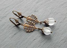Ohrringe - romantische Tropfen von Perlenfontäne auf DaWanda.com