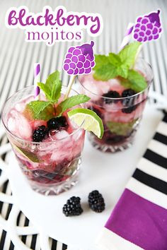 Never thought of making a flavored mojito! Blackberry mojito!