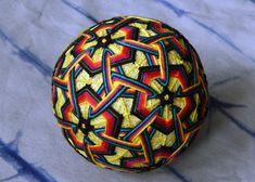 Temari Ball Sunrise Handmade Embroidery