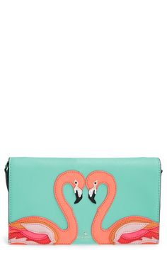 kate spade new york 'strut your stuff - flamingo cali' clutch available at #Nordstrom