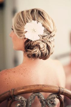 Textured updo with fishtail braid