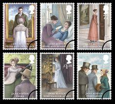 Jane Austen 2013 commemorative stamps