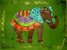 Kid & Glitter – Indian Elephants. Includes 2 Patterns for elephants