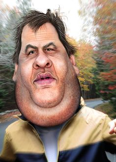 Chris Christie - Caricature