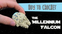How to Crochet: The Millennium Falcon from Star Wars Video pattern for how to crochet a miniature Millennium Falcon from Star Wars! Perfect for keychains and baby mobiles! Download the PDF here: http://ift.tt/2pYcuJk about the weird camera angle! I didn't realize until the end.Brought to you by Club Crochet! A subscription serv